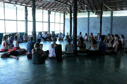 Meditation event in Pranayama Yoga Hall
